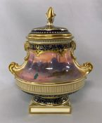 Royal Doulton Cabinet Urn, Hand Painted & Signed H. Allen