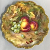 Royal Worcester Hand Painted Fruit Plate