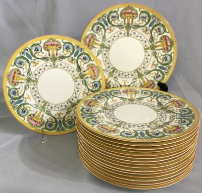 Royal Worcester Service Plates  Date Marked For 1935-37