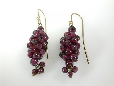 Ruby Cluster Earrings CFA1310352  1