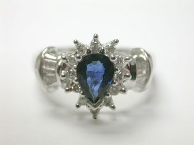 Sapphire Cluster Ring CFA140117