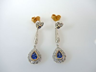 Sapphire and Diamodn Earrings CFA1404132