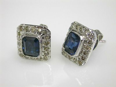 Sapphire and Diamond Earrings CFA131129