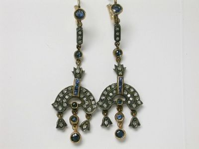 Sapphire and Diamond Earrings CFA140136