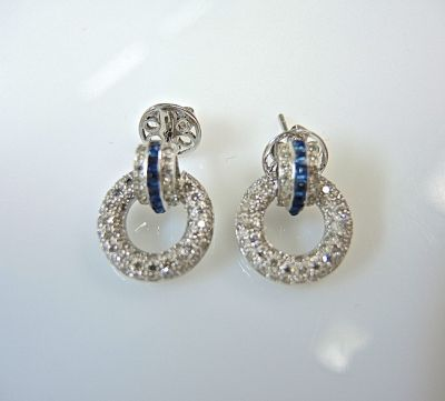 Sapphire and Diamond Earrings CFA1403268