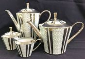 Schumann Bavaria Porcelain 4 Piece Tea & Coffee Set, circa 1960