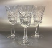 Galway Crystal Goblets Set of 8