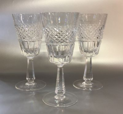 Set of eight Galway Crystal Goblets b