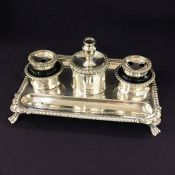 Sheffield Plate Antique Inkwell