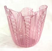 Signed Venini, Murano Handkerchief Art Glass Vase