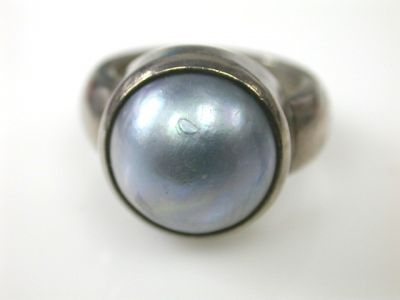 Silver Mabe Pearl Ring CFA1311357