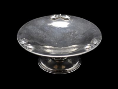 Petersen Silver Pedestal Serving Dish