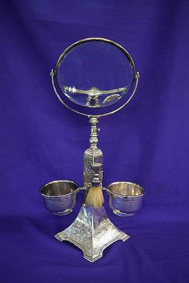 Silver Plated Shaving Stand ab