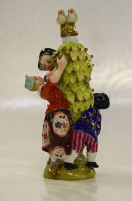 Sitzendorf Figural Scent Bottle with Pair of Birds Stopper  C