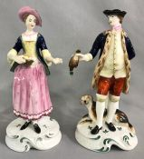 Spode Chelsea Hand Painted Bone China Figures