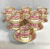 Spode Coffee Cans and Saucers, circa 1891-1900