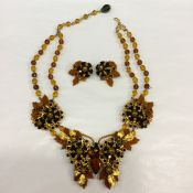 Stanley Hagler Vintage Necklace & Earring Set