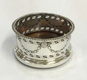 Antique Sterling Silver Bottle Coaster
