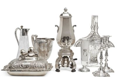 Sterling Silver, Crystal & Plate Collection
