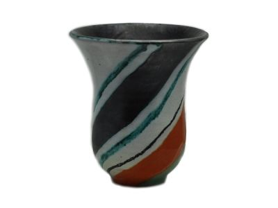 Striped Czech Vase  AP012
