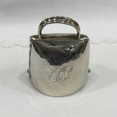 Swiss 800 Grade Silver Hand Hammered Table Bell  Rutishauser -1
