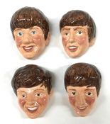The Beatles Vintage Kelsboro Ware Ceramic Wall Plaques, England Circa 1964