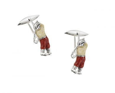 Thistle and Bee Cufflinks /003 Golphers Cynthia Findlay Antiques