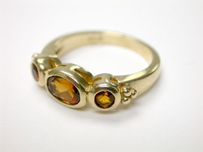 Three Stone Citrine Ring CFA140374