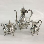 Tiffany & Co. Vintage Sterling Silver Three Piece Coffee Service
