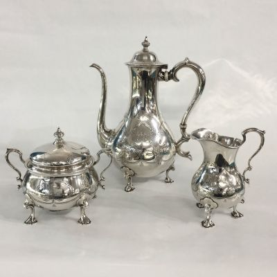 Tiffany Vintage Sterling Silver Three Piece Coffee Service
