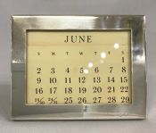 Tiffany & Co. Sterling Silver Perpetual Calendar