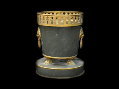 Tole Jardiniere with Lion Motif  Jar002