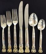 "Towle Sterling Silver Flatware ""Celtic Weave Gold"""