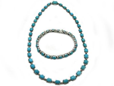 Turquoise Jewellery/Turquoise Necklace and Bracelet Set 69179
