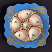 Vibrant Antique Oyster Plates