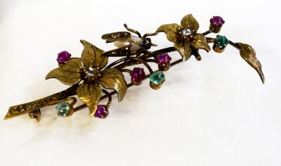 Victorian-Diamond-Pearl-Emerald-Ruby-Floral-Brooch-CFA1612131-83063