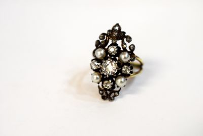 Victorian-Diamond-and-Pearl-Ring-AGL63396-82264