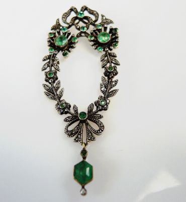 Victorian-Emerald-and-Diamond-Floral-Pendant-CFA150977-80133