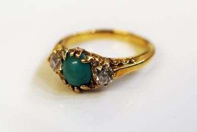 Victorian-Turquoise-and-Diamond-Ring-AGL74815-83952