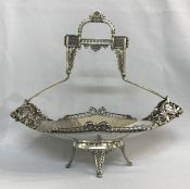 Victorian Aesthetic Movement Silver Plate Basket