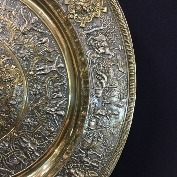 victorian elkington gilt and silver plate ornamental charger