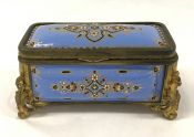 Victorian Enamelled Dresser Box, French, Circa 1875