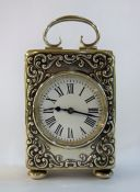 Victorian English Silver Carriage Clock