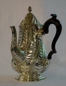 Victorian English Silver Chocolate Pot