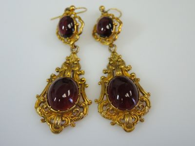 Victorian Garnet Earrings CFA1310293