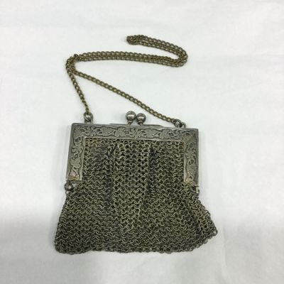 Victorian German Silver Chainmail Purse