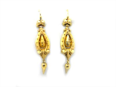 Victorian Gold Earrings  GldE003 1