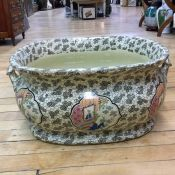 Victorian Japanese Inspired Ironstone Foot-Bath