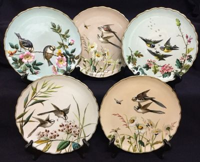 Victorian Luncheon Plates by George Jones & Sons