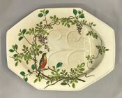 "Victorian Mintons ""Essex Birds"" Well & Tree Platter"